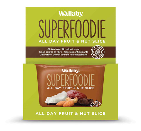 Wallaby All Day Fruit and Nut Slices Cappuccino Cacao