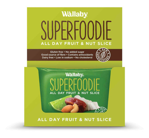 8 x Wallaby All Day Fruit and Nut Slices - Coconut Lime (Gluten Free) Fruit & Nut Slices Wallaby