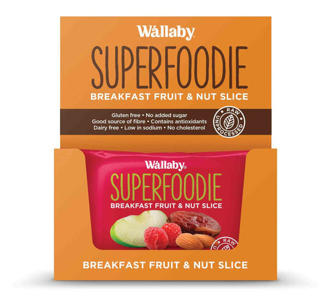 Wallaby Breakfast Fruit & Nut Slices Apple Raspberry