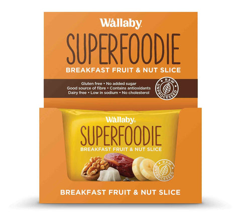 8 x Wallaby Breakfast Fruit & Nut Slices - Banana Coconut Walnut Chai (Gluten Free) Fruit & Nut Slices Wallaby
