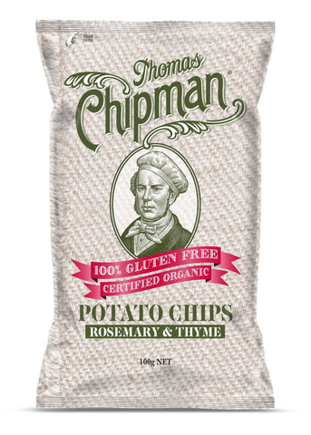 5x Thomas Chipman Potato Chips Rosemary & Thyme 100g