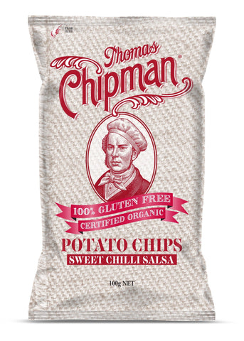 5 x Thomas Chipman Potato Chips Sweet Chilli Salsa 100g