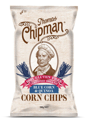 5 x Thomas Chipman Corn Chips Blue Corn & Quinoa 200g