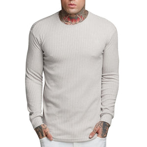 2019 New Men Basic Knittwear Thin Autumn Fitness Men Long Sleeve Knitting Pullover Spring Men Sweater Casual Streetwear Gymwear