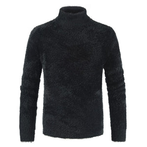 AKSR Men's Turtleneck Knitted Sweater Cashmere Wool Winter Sweater Men 2019 Turtleneck Pullover Man Swetry Pull Col Roul Homme