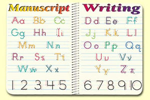 Manuscript Handwriting Placemat