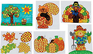 Fall Time Dot Marker Activity Sheets