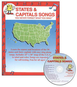 States and Capitals Songs, Book and CD
