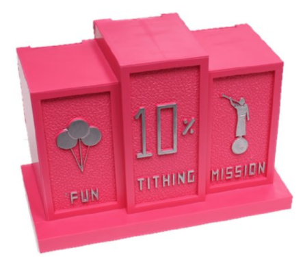 Pink Tithing Bank, 3 slots
