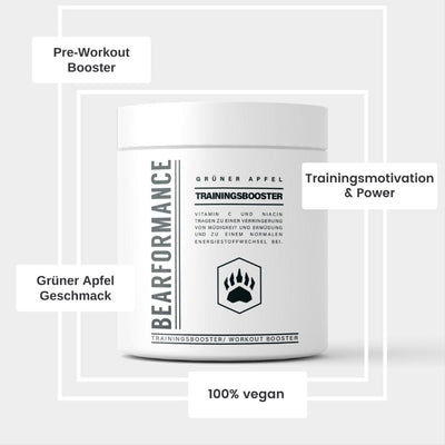 Trainingsbooster Grüner Apfel - BEARFORMANCE