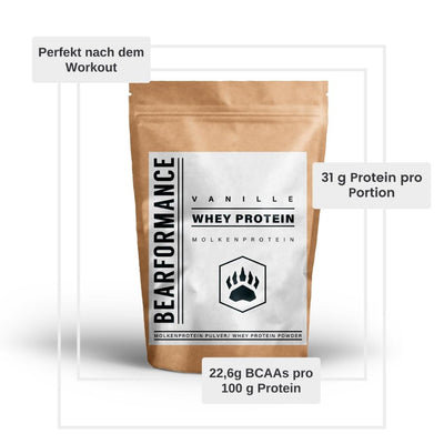 Whey Protein Pulver (900g) - BEARFORMANCE