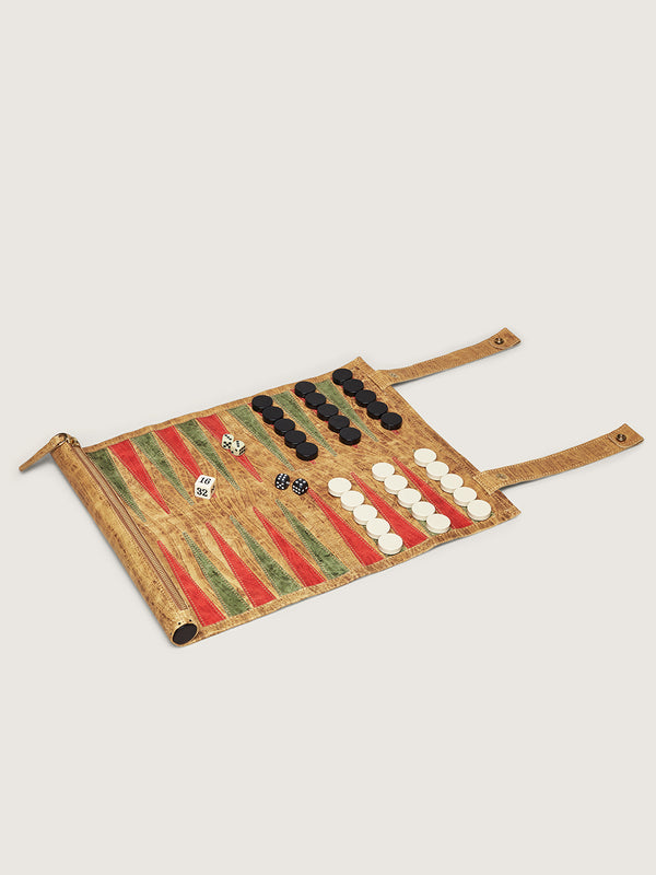 Backgammon Board - Antique Saddle