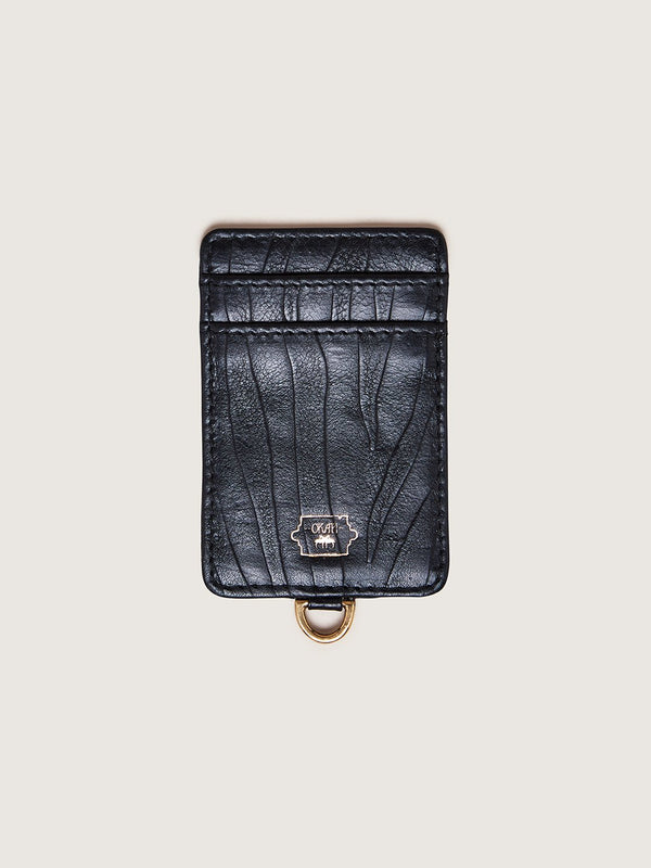 Phone Wallet - Black Blesbok