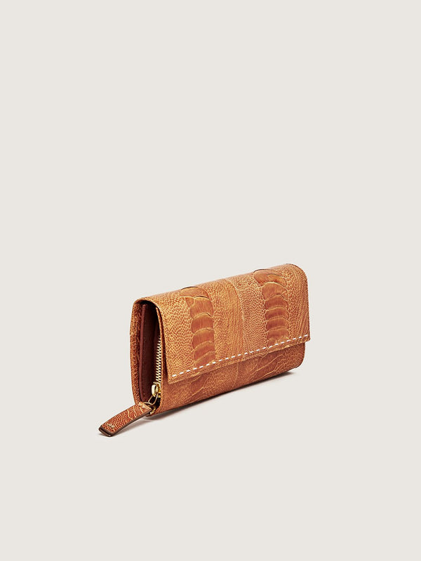 Zip Around Wallet - Burnt Amber