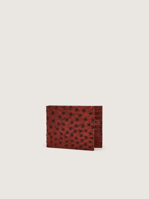 Billfold Wallet - Almond Ostrich