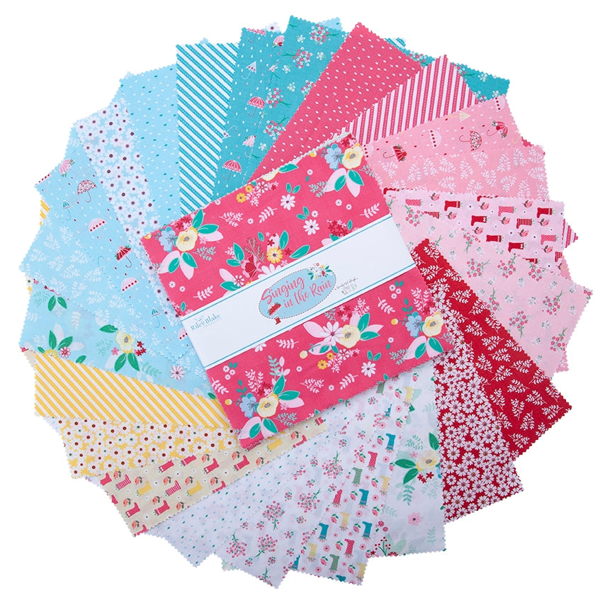Singing In The Rain 10 Inch Fabric Squares