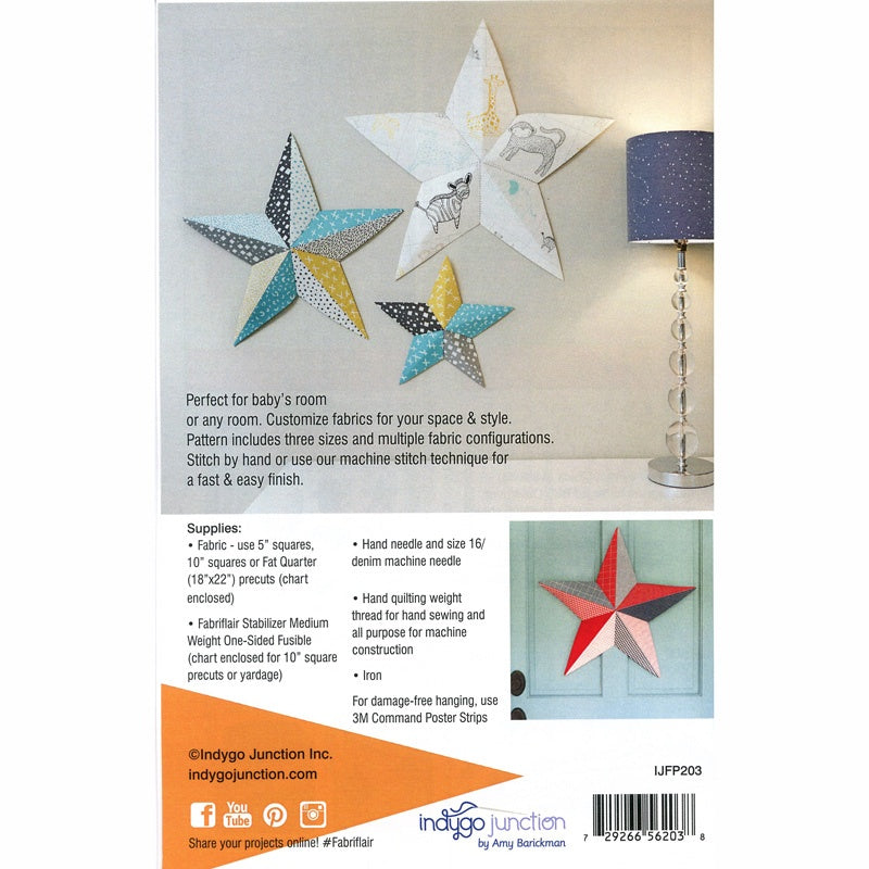 Fabriflair Wall Art Stars Pattern
