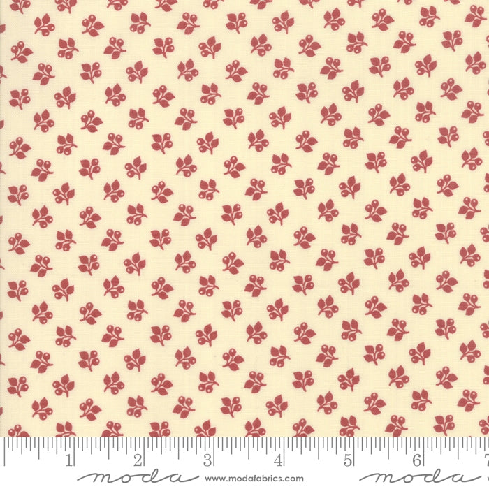Sarah's Story Leaf & Berry Red Fabric