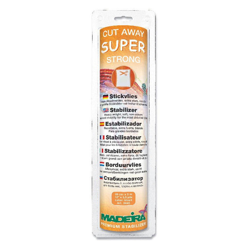 "Cut Away Super Strong White Stabilizer 12"" x 5-1/2 yd"