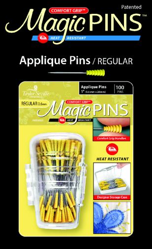 100 Piece Applique Magic Pins