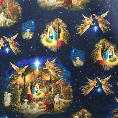 Holy Night Allover Fabric