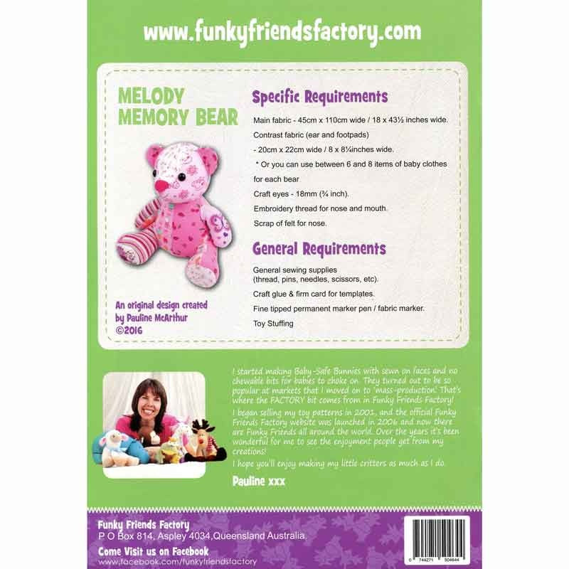 Melody Memory Bear Funky Friends Factory Pattern