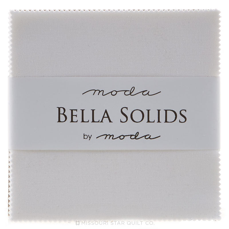 Bella Solids White Charm Pack