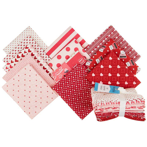 Riley Blake Valentines Red Fat Quarter Bundle