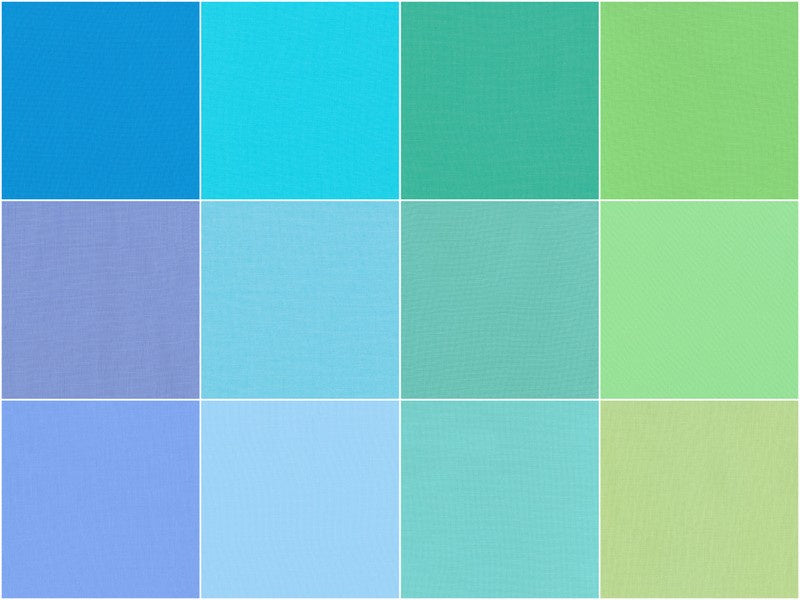 Kona Cotton - Mermaid Shores Palette Fat Quarter Bundle