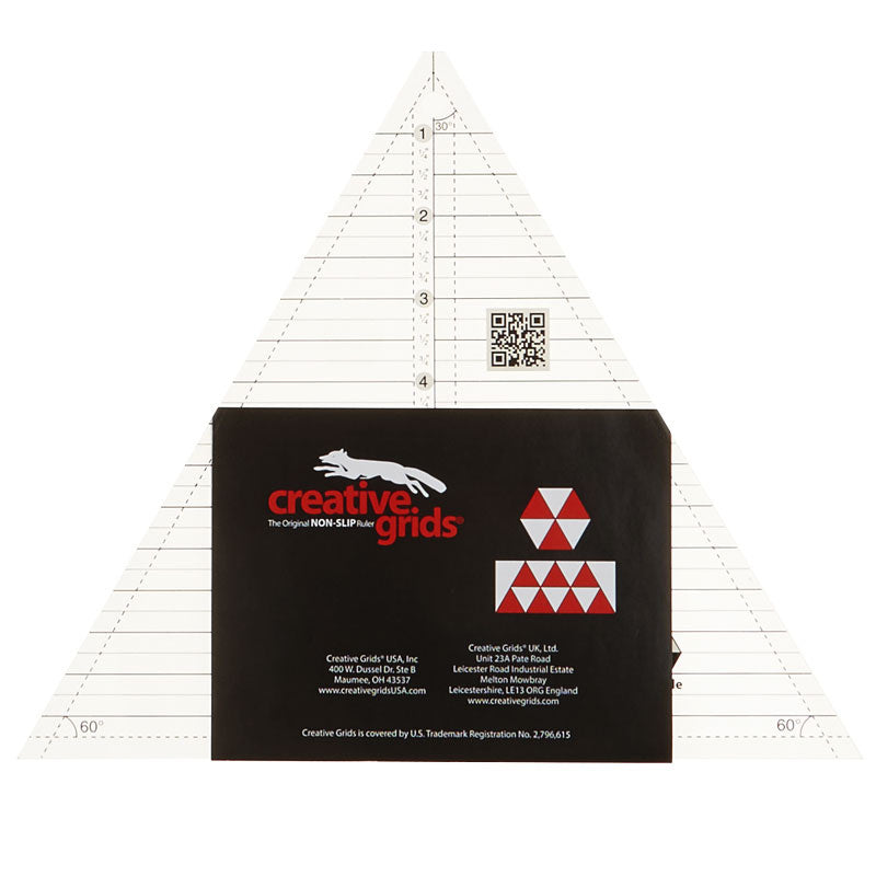 Creative Grids 60 Degree Triangle Ruler - 8in