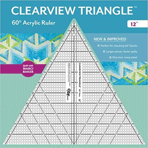 Clearview Triangle 60° Acrylic Ruler―12""
