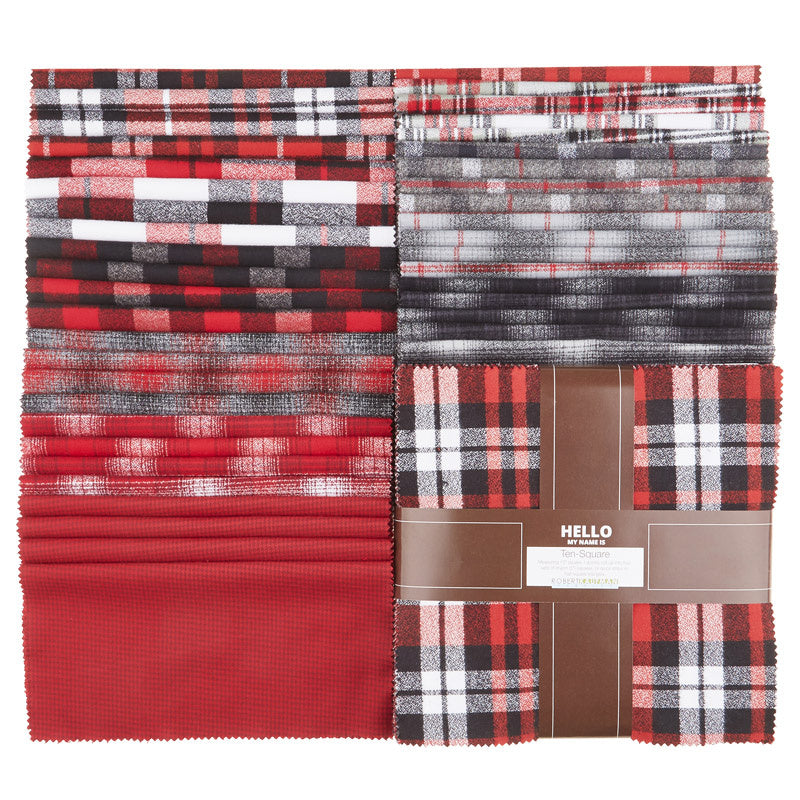Mammoth Flannel - Red Colorstory Ten Squares