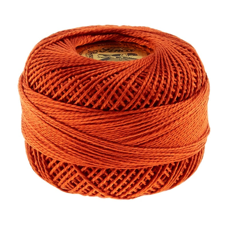 Presencia Perle Cotton Thread Size 8 Red Copper