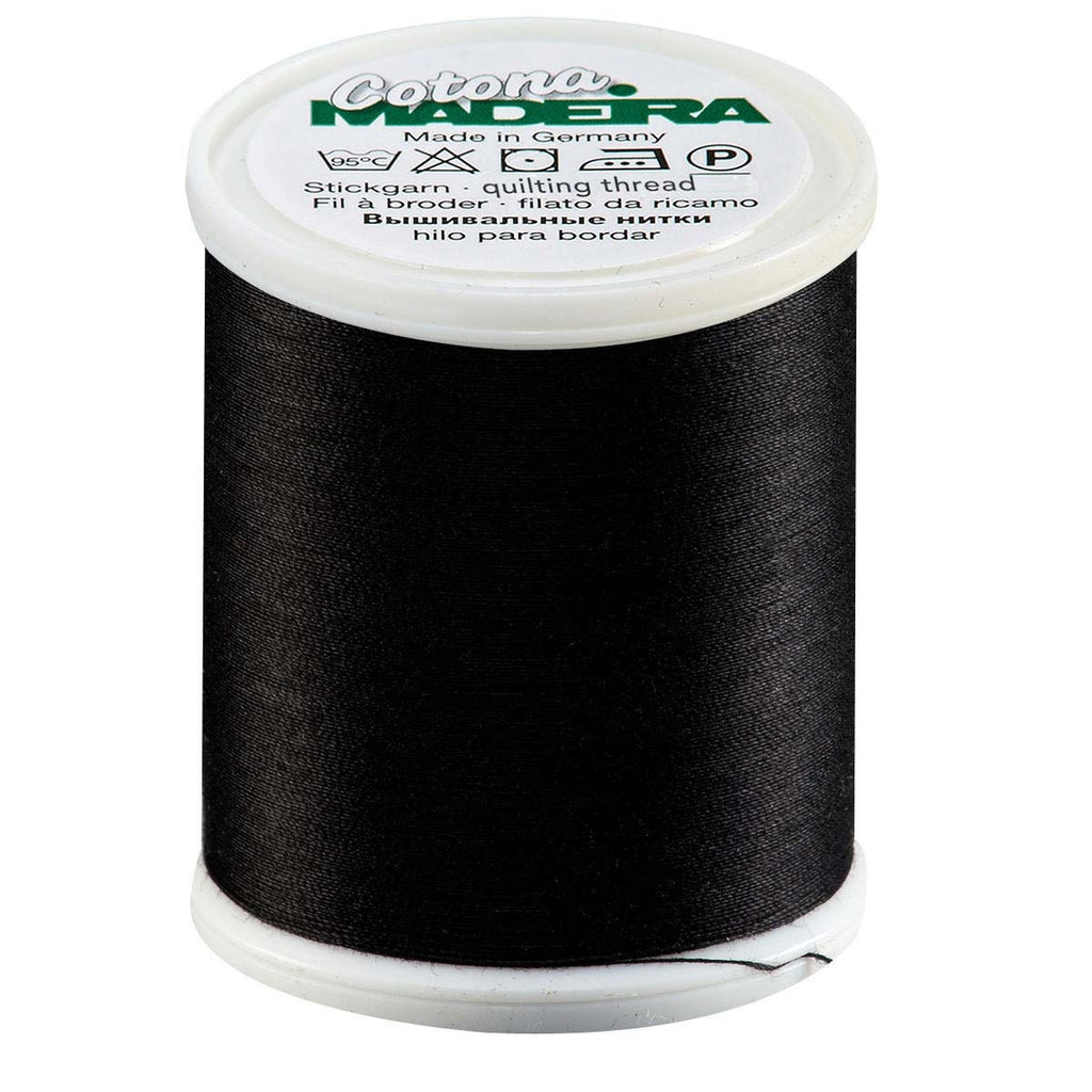 Black Madeira 50 Wt. Cotona Quilting Thread