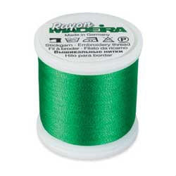 Bright Green Madeira 40 Wt. Rayon Embroidery Thread - 220 yds