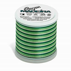 Bright Greens Madeira 40 Wt. Variegated Rayon Embroidery Thread - 220 yds