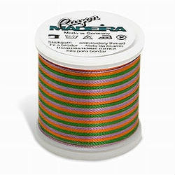Green, Purple, Gold Madeira 40 Wt. Variegated Rayon Embroidery Thread - 220 yds