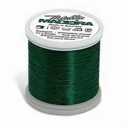 Green Madeira 40 Wt. Smooth Metallic Embroidery Thread - 220 yds