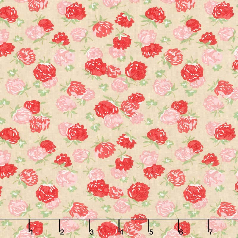 At Home with Bonnie and Camille - Blossoms Linen B Yardage