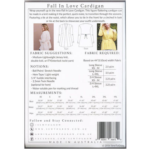 Fall in Love Cardigan Pattern