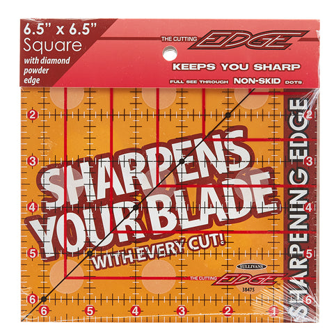 "Cutting Edge Sharpening Edge Clear Ruler 6.5"" x 6.5"""