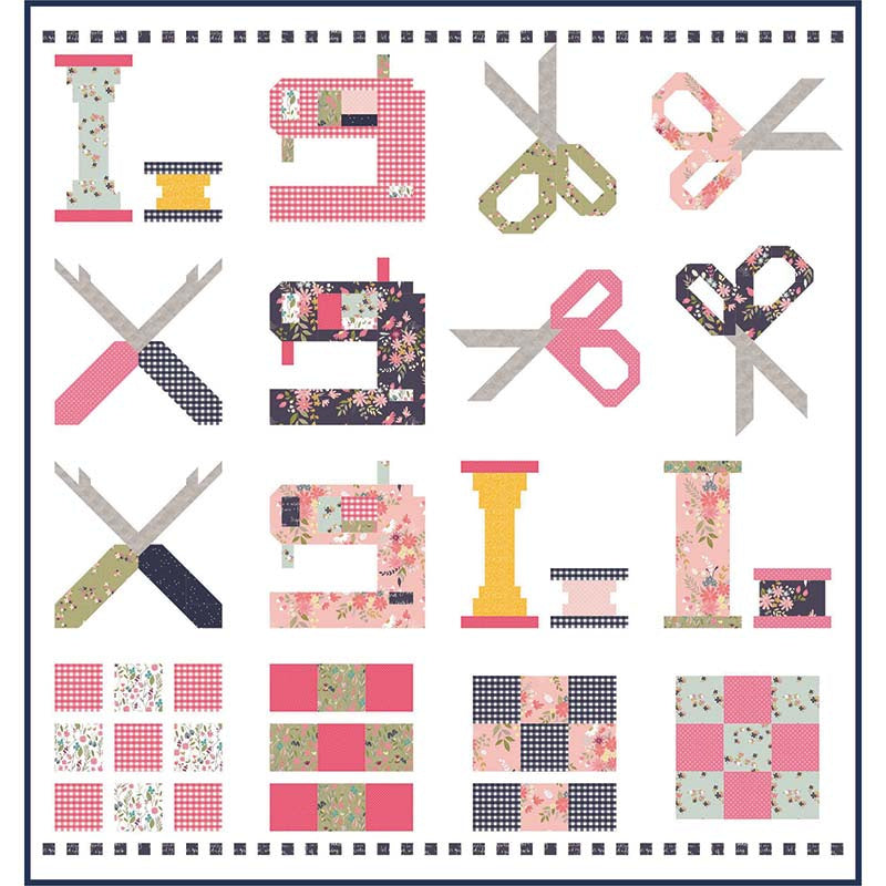 Riley Blake Celebrate Sewing Quilt Top Kit