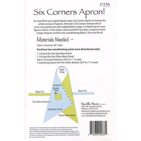 Six Corners Apron Pattern