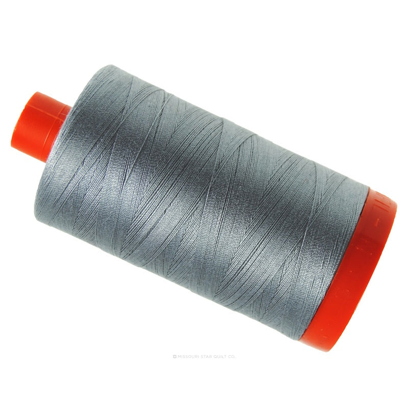 Aurifil 50 WT Cotton Mako Large Spool Thread Grey Smoke