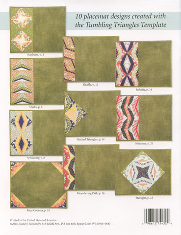 Tumbling Triangle Placemats Template and Pattern