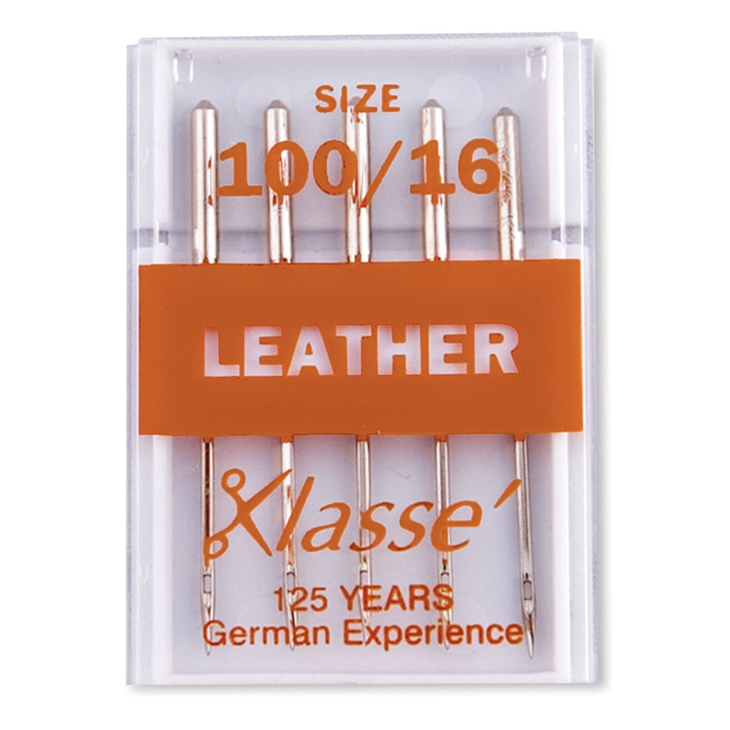 Klasse Leather Needles, 5/Pack - Size 100/16