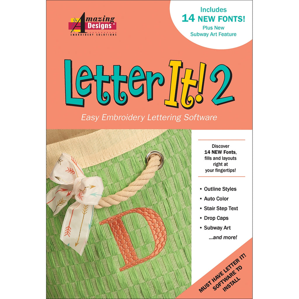 Letter It  2 Embroidery Software Amazing Designs
