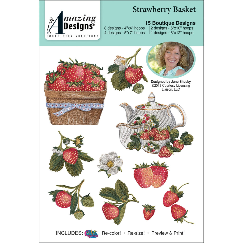 Strawberry Basket Embroidery Designs