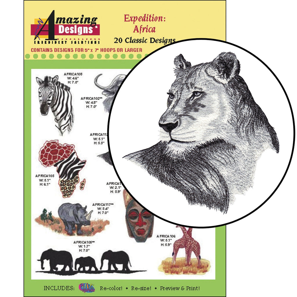 Expedition: Africa Embroidery Designs CD