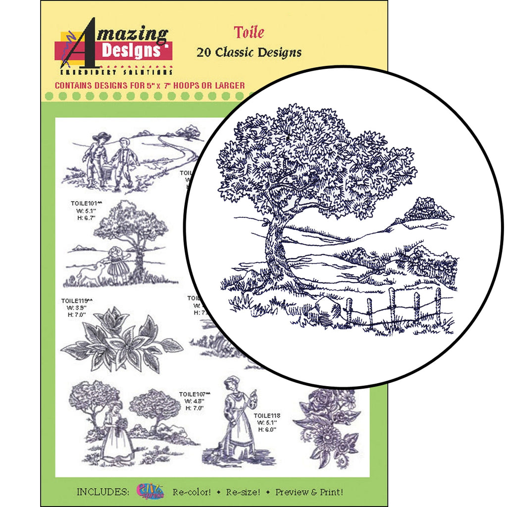 Toile Embroidery Designs CD